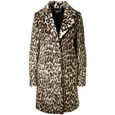 Stella Mccartney Leopard Printed Faux Fur Coat ($1,905) ❤ liked on Polyvore featuring outerwear, coats, coats & jackets, brown faux fur coat, brown coat, leopard print coat, imitation fur coats and long sleeve coat