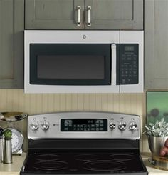 JVM3160RFSS GE 1.6 cu. ft. Over-the-Range Microwave Oven - Stainless Steel  CR top rated microwave: 75 / 80 $250