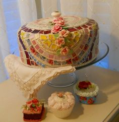 Mosaic Art by Myeuropeantouch: Search results for cake stand