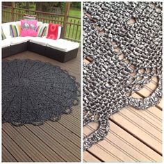 All weather mat made of plastic bags!