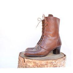 963082ba5c0b size 9 vintage brown Italian leather granny boots. Weiches Leder,  Italienisches Leder, Stiefeletten, Schuh Stiefel