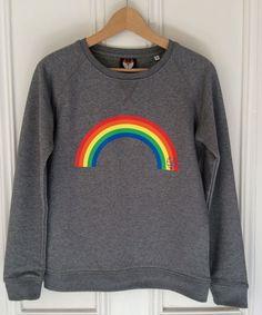 8e077050fec1d3 Women s Rainbow icon sweatshirt. Organic round neck raglan sleeve  sweatshirt in… Gay Outfit