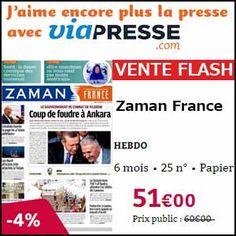 #missbonreduction; Vente Flash : 4 % de remise sur l'abonnement au magazine Zaman France chez Viapresse. http://www.miss-bon-reduction.fr/details_bon_reduction_Viapresse_i306_c1835808.html