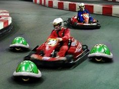 Ever wondered what Mario Kart would look like if it was an actual reality? Ever gone to a go-kart track, and pretended that you were playing Mario kart?