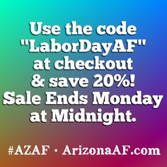 Our Labor Day sale is real af. #azaf #arizonaaf #supportlocal #arizona #labordaysale #murica