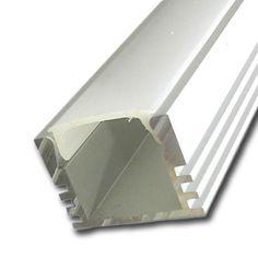Perfil de Aluminio Standard Anodizado x 2m
