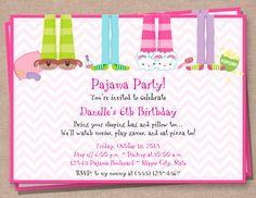 Printable pancakes and pajamas party invitation digital file pajama party invitation sleepover invitation by cardsologystudio filmwisefo