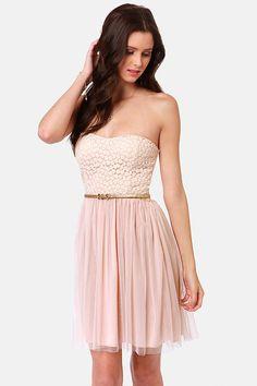 Pretty Strapless Dresses