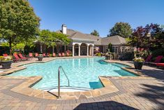 A sparkling swimming pool and relaxing sundeck make it easy to enjoy the outdoors. Luxury Apartments, Swimming Pools, The Neighbourhood, Artisan, Relax, Outdoors, Tours, Easy, Outdoor Decor