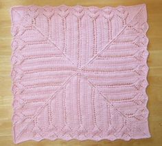 Tiffany Lace Baby Blanket - free pattern - worked on circulars from outside in - DK weight
