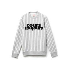 Unisex Lacoste LIVE fleece sweatshirt with Cours Toujours print
