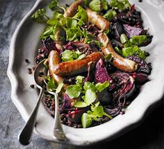hot mustard lentils with beetroot spicy sausages hot mustard lentils ...