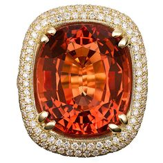 1STDIBS.COM Jewelry & Watches - Imperial Topaz and Diamond Ring - Price $148,500 found on Polyvore