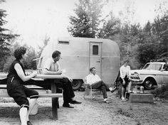 Caption: Langford Lake Campground, Bessemer Ranger District, Ottawa National Forest, Michigan.    Date: July 15, 1960    Photographer: Heim, P. Freeman    Local Call Number: R9_494838
