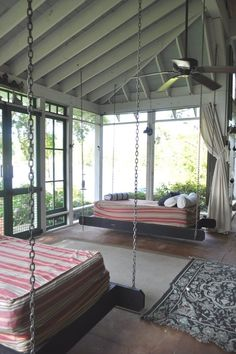 sleeping porches pictures | sleeping porch swing or swings,