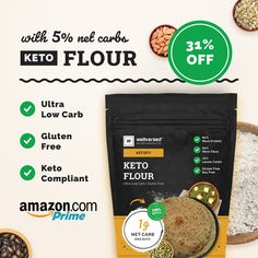 Keto Flour, Protein, Low Carb, Gluten, Health, Health Care, Salud