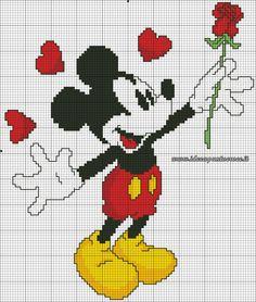 Mickey w/ rose 1 of 2