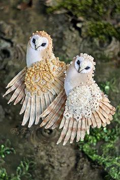 Удивительные птицы-броши от Юлии Гориной. Обсуждение на LiveInternet - Российский Сервис Онлайн-Дневников