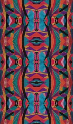 This is my own print that is inspired by Emilio Pucci. This is one of two different layouts that I created.