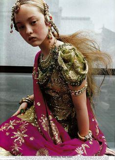Pink and Green Sari, Love this, want to hang sari on wall for decor