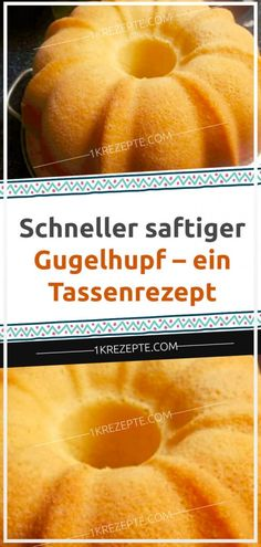 Fast juicy ring cake - a cup recipe - simple R-Schneller saftiger Gugelhupf – ein Tassenrezept – Einfache Rezepte Fast juicy ring cake – a cup recipe – simple recipes - Fast Dinner Recipes, Easy Fish Recipes, Easy Salad Recipes, Easy Cake Recipes, Easy Healthy Recipes, Appetizer Recipes, Baking Recipes, Breakfast Recipes, Simple Recipes