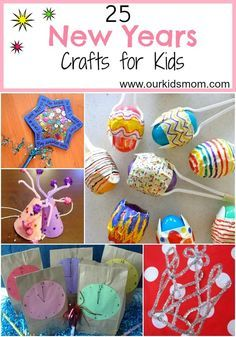 25 new years crafts for kids new years eve новый год, рождес New Years With Kids, Kids New Years Eve, Holidays With Kids, New Years Party, New Year's Eve Activities, Holiday Activities, Easter Activities, Halloween Activities, New Year's Eve Crafts