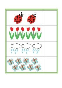 Spring Printables for Kıds - File Folder Activities, File Folder Games, File Folders, Fun Crafts, Crafts For Kids, Life Skills, Preschool Activities, Kids And Parenting, Counting