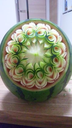 Food & Restaurant, Travel & Hotels, Arts & Entertainment in Sarasota Fl Florida Vegetable Decoration, Food Decoration, Watermelon Art, Watermelon Carving, Amazing Food Art, Food Sculpture, Fruit And Vegetable Carving, Food Carving, Food Garnishes