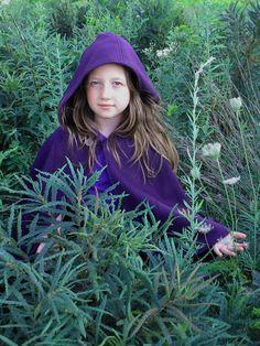 purple kids cape