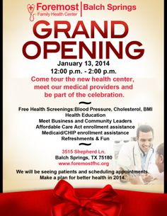 Foremost Family Health Center - Balch Springs grand opening is today!