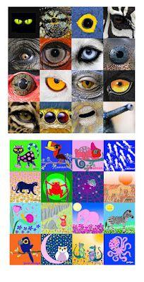 eyes animals memory game