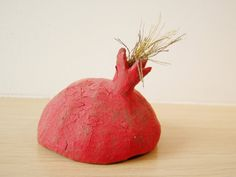Ceramic red pomegranate, sculpted texture, gold tassel, made to order Red High, Stoneware Clay, Gold Texture, Pomegranate Ideas, Sculpting, Tassels, Diy And Crafts, Pottery, Pomegranates