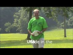 Fun Outdoor Game with cup and frisbee