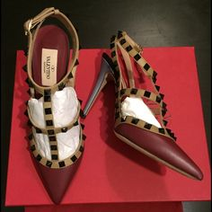 Valentino Rockstud Heels Brand new with box and dust bag. Retail $1145.  trade Valentino Shoes Heels