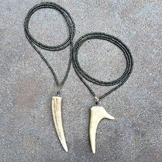 These pyrite and antler necklaces will be your new go-to for any occasion!