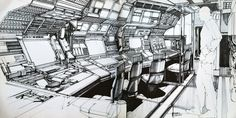 2010: ODYSSEY 2 - Concept art by Syd Mead