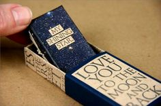 Constellations Matchbox Library Blog Hop project by Kay Williamson