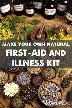 How to make your own natural herbal medicine chest & first aid kit with natural remedies, supplements and herbs to handle most minor injuries and illnesses.  | Ancient Wisdoms