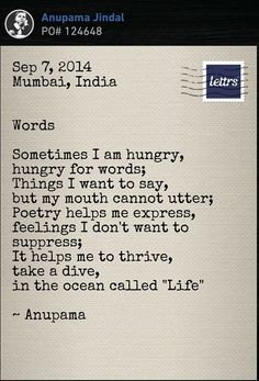 Words and poem!!