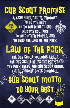 New Cub Scout Printables...