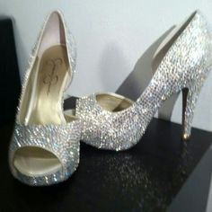 Let us Strass your wedding shoes, party shoes, cups,children's shoes, tee shirts and much more, email for info. freeindeedtreasures@gmail please send a description of shoe and what  you would like done to them