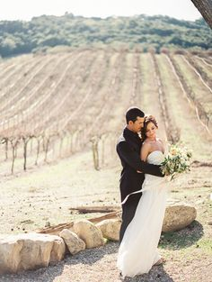 Spring Wedding Portraits in the Vineyards | Danielle Poff Photography