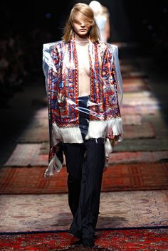Masison Martin Margiela Spring 2012 Ready to Wear: Oriental Influenced coat that was popular in the early part of the Century