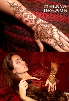 "Round 4 entry- Mauritanian style by Sarah ""Dreamie"" Walker of Henna Dreams. I had never heard of this style before, but it involves so many straight lines you'll end up going crosseyed! Vote for me by clicking the ""Like"" button above! http://www.facebook.com/DreamieWood"