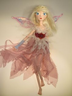 LENA Royal Faerie ball jointed paper clay art by Kaeriefaerie52, $55.00