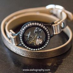 Origami Owl Rose Gold Wrap Bracelet.  Shop at http://www.shellygardner.origamiowl.com