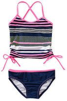 Jessica Simpson 4-6X Mixed-Media Tankini