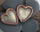 obsessed with everything this chick makes/sells... open up and live . a (whispered) soul mantra heart locket