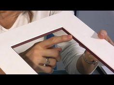 Isabelle Piel nous montre à travers ce reportage une technique d'encadrement, avec quelques petites astuces.