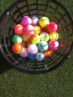 Colorful golf balls